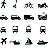Vervoer pictogrammen ontwerpelementen — Stockvector