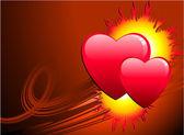 Flame of love Valentine's Day background — Stock vektor