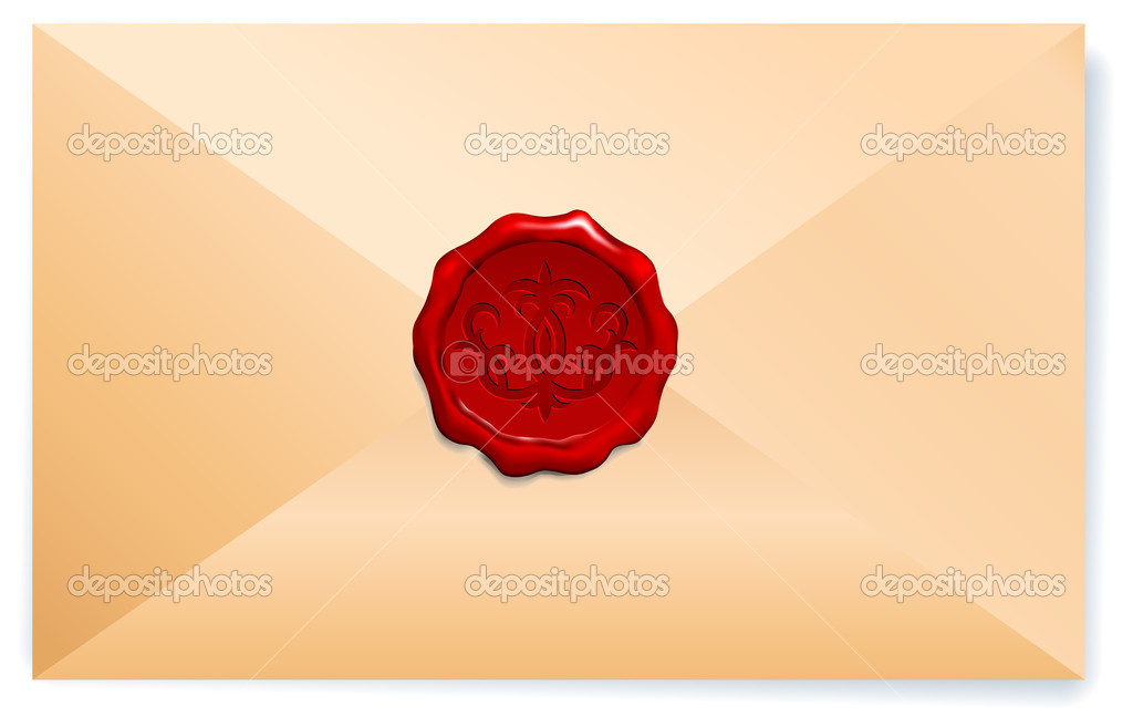 Royal Wax Seal Original Vector Illustration — Stock Vector #6030753