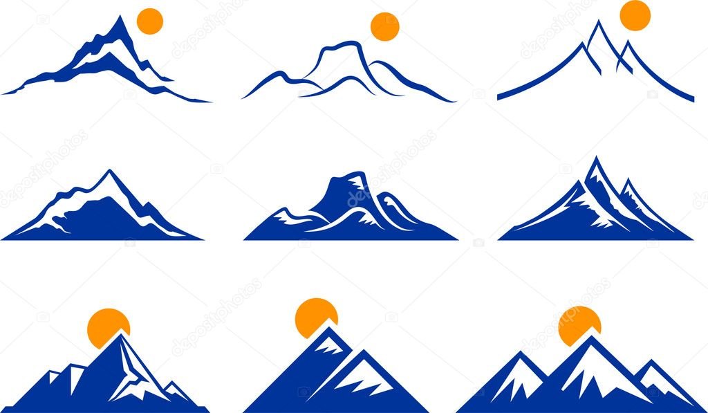 Mountain Icons — Stock Vector © iconspro #6030874
