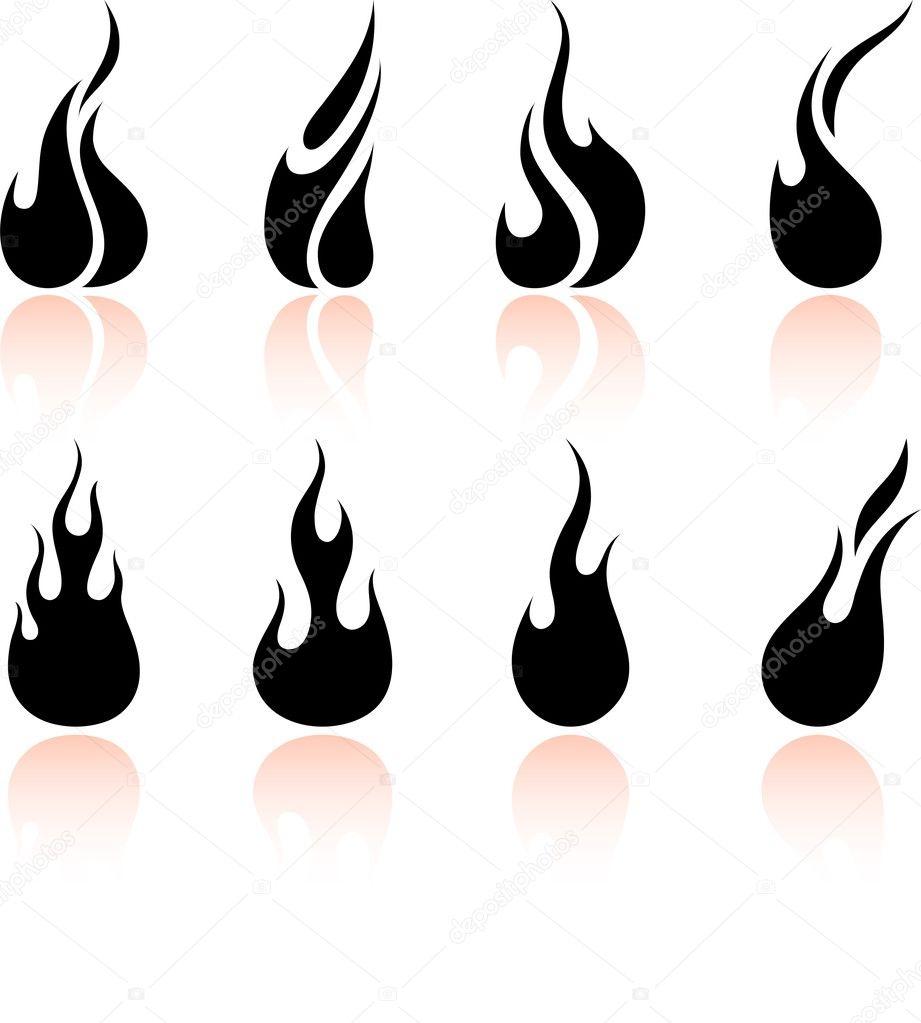 Original vector illustration: Flame and fire  Stock Vector #6031302