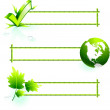 Bamboo border elements — Stock Vector #6086543
