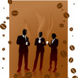 Stock Vector: Business coffee break