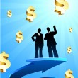 Business of profits background with two - 