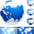 Royalty-Free Stock Vector Image: Globes and World Maps