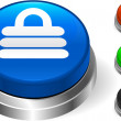 Royalty-Free Stock Vector Image: Lock Icon on Internet Button