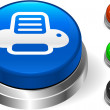 Royalty-Free Stock Imagem Vetorial: Printer icon on internet button