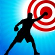 Royalty-Free Stock Vector Image: Boxing background with bullseye target