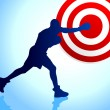 Boxing background with bullseye target — Imagens vectoriais em stock