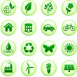 Royalty-Free Stock Vector Image: Green Environmental Buttons