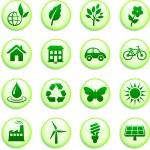 Постер, плакат: Green Environmental Buttons