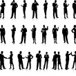 Business Silhouette Super Set — Vector de stock #6087049