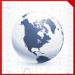 Globe on corporate elegance background - Vektorgrafik