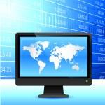 Global economy background. — Stock Vector