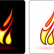 Stock Vector: Flame and fire design elemets