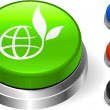 Globe Icon on Internet Button — Imagen vectorial