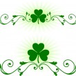 St. Patrick's Day green background — Stock Vector