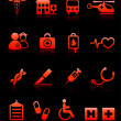 Royalty-Free Stock Vector Image: Hospital Emergency Icons Collection