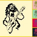 Guitar player — Stock Vector