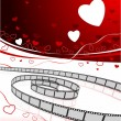 Romantic movies background — Stock Vector