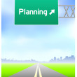 Planning Highway Sign — Stock Vector #6087904