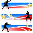 American patriotic boxing background — Stock Vector