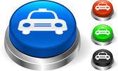 Taxi Cab Icon on Internet Button — Stock Vector