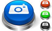 Camera Icon on Internet Button — Stock Vector