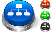 диаграмма на кнопку интернет — Cтоковый вектор