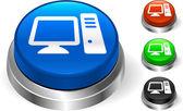 Computer Icon on Internet Button — Stock Vector
