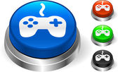 Controller on Internet Button — Stock Vector