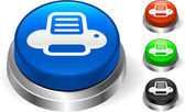 Printer icon on internet button — Stock Vector