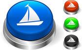 Sail Icon on Internet Button — Stock Vector