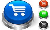 Cart Icon on Internet Button — Stock Vector