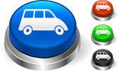 Van Icon on Internet Button — Stock Vector