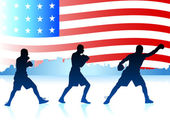 American patriotic boxing background — Stockvektor