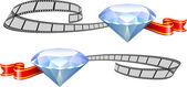 Diamond film awards on white — Vector de stock