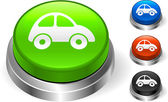 Car Icon on Internet Button — Stock Vector