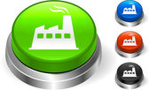 Factory Icon on Internet Button — Stock vektor