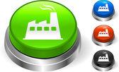 Icône de l'usine sur le bouton internet — Vecteur