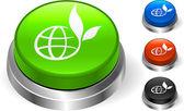 Globe Icon on Internet Button — Stock Vector