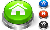 House Icon on Internet Button — Stock vektor
