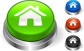 Icono casa en botón de internet — Vector de stock