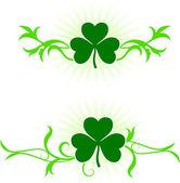 St. Patrick's Day green background — Vecteur
