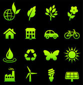 Environmental Nature Icons Collection — Stock Vector