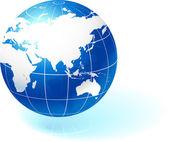 Globe on white background — Stock Vector