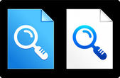 Magnifying Glass on Paper Set — Stockvector