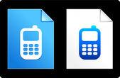 мобильный телефон на бумаге набор — Cтоковый вектор