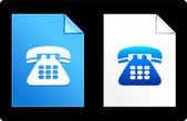 Telefone no set de papel — Vetor de Stock