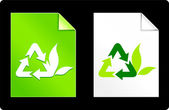 Recycle Symbol on Paper Set — Stock Vector